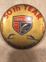 Vintage Snowflake Ski Club 1923-1973 50 Years Booster Member Pinback Button