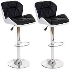 2x tabouret de bar Hamilton chaise de comptoir similicuir ~ anthracite