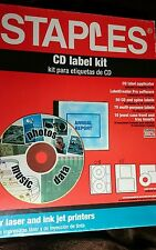 CD Label Kit 21 Case Labels sheets 51 sheets CD labels sheets mixed lot on BRAND