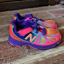NEW BALANCE TODDLER GIRL RUNNING Rainbow Tye Dye 890V3 ATHLETIC TENNIS SHOE SZ 7