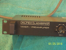 Altec Lansing 1689A pre amplifier mixer Xlr connections balanced output amp