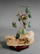 China Chinese Jade and Quartz Crystal Floral Arrangement ca. 20th c.