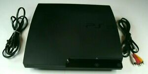 Sony PlayStation 3 PS3 Slim 160GB Console CECH-2501A + SONY CONTROLLER *AV ONLY*