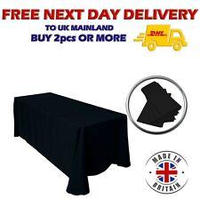 BLACK POLYESTER TABLECLOTH 90 x 132'' Wedding Rectangle Table Cover Party Decor