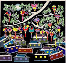 Grande Gouache dessin 1987 Japon Tokyo Asie