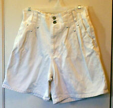Denim* Off white shorts, front pleats, pockets, and front zipper size L Jr.