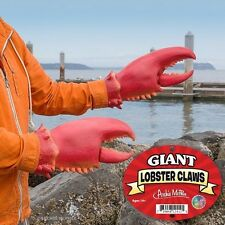 Giant Red Latex Lobster Hand Claws Costume Gloves Realistic Novelty Fun Gag Gift