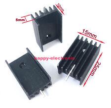 10PCS Transistors Aluminum Heat Sink TO-220  25*15*10mm