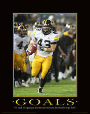 Iowa Hawkeyes Football Motivational Poster Art Nile Kinnick Jr Stadium  MVP70