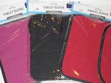 "I Pad or Tablet Cover - Slim Design Pouch w/ Easy Closure - Size 11.4"" x 8.2"""