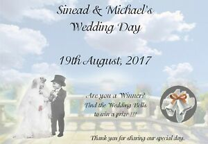 10 Personalised Wedding Scratch Cards A6 - Wedding Favour, Wedding Party Game B1