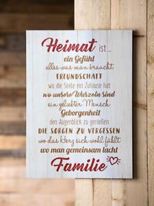 Gilde Holzschild Holzbild Wandbild Weisheit Heimatliebe MDF Sprüche 42622