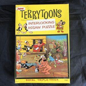 Vintage 1950s Jaymar Terrytoons Heckle & Jeckle Triple Thick Jigsaw Puzzle