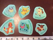 Pokemon Pikachu and others  fabric iron on appliques (style#4)