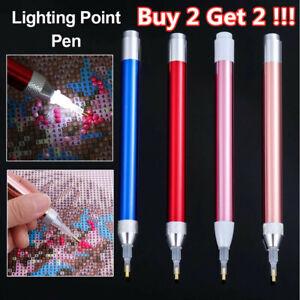 5D Diamond Painting Tool Point Drill Stylus Pen LED Light Embroidery Art Tools