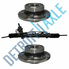 3 pc Set: Steering Rack and Pinion + 2 Wheel Hub Bearing Assembly; w/ ABS