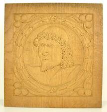 Cardinal ou Archevèque Archbishop Bas-relief carved wooden panel 30cm