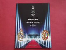 SUPER CUP 2017 MAN UTD V REAL MADRID OFFICIAL PROGRAMME MANCHESTER