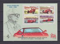 s17363) ITALIA MNH** 1998 Ferrari Italia '98 Expo BF S/S