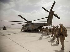 WAR AIR FORCE TRANSPORT HELICOPTER CHOPPER CAMP BASTION HELMAND PRINT BB3317A