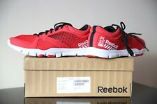 Reebok Yourflex Hombres Rojo Running Shoes Size UK 7 EU 40.5
