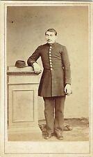 Photo cdv : Tiffereau ; Elève d'un Lycée Militaire en pose , vers 1865