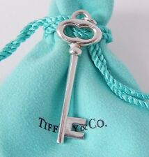 Tiffany & Co. Silver Large Vintage Oval Key Charm Pendant with Pouch Beautiful!