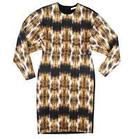 Celine - Phoebe Philo - Dip Dye Silk Dress - Black Back - Yellow - US 2 - 34