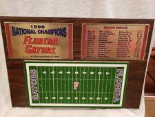 VERY RARE Florida Gators 1996 NCAA Football National Champions Wood Plaque, COOL