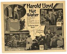 HAROLD LLOYD - Vintage 1924 Silent Film - HOT WATER - Pathe Comedy MOVIE HERALD