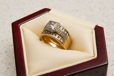 Diamond Engagement Ring Set, Princess Cut, GIA Certified