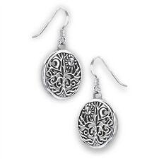 925 Sterling Silver SUN & MOON Celestial Earrings Celtic Tree Hook Dangle