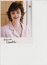 """CHERIE BLAIR personally signed 8"""" X 6"""" PHOTO CARD"""