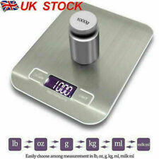 More details for digital lcd 1g-10kg kitchen electronic balance scale food weight postal scale uk