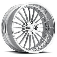 "Pro Wheels P4 22"" Polished Aluminum Billet Wheels Rims (set of 4)"
