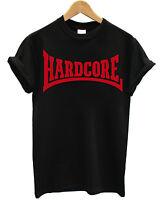 T-SHIRT HARDCORE - maglietta 100% cotone NERO