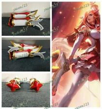 2018 LOL Star Guardian Miss Fortune Cosplay Prop Comic Con Woman Guns Headhelds
