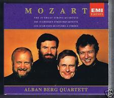 MOZART 5 CDS BOX SET NEW 10 GREAT STRING QUARTETS ALBAN BERG QUARTET