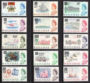 1966 Bahamas #230-244 Surcharges Cunard Ship Queen Elizabeth Flamingo Bird Yacht