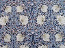 William Morris Curtain Fabric 'Pimpernel' 2.9 METRES Indigo/Hemp - 100% Cotton