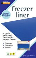2x Freezer Drawer Shelf Defrost Liners Mats - Prevents Build Up Ice & Frost