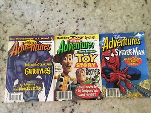 Disney Adventures Magazine November 1995 Gargoyles/Sep 1995 Spider-Man/Dec 1995