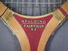 Nice 1930s Vintage Spalding Tennis Racquet - Fairfield XF Model
