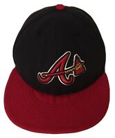 ATLANTA BRAVES New Era 59Fifty HAT CAP Fitted  MLB Baseball Size 7 1/8 Authentic