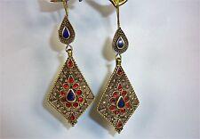 Tribal-Ohrringe, Orientalische Ohrringe, Bauchtanz-Ohrringe, Tribalschmuck