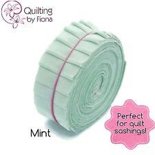 "20 X 1.5"" Mint Green Honey Bun PreCut Fabric Strips, 1.5 inch x WOF, Die Cut"