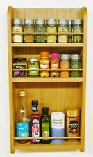 Spice & Herb Rack Solid Oak 3 Tiers Shelves suitable for all kitchen types