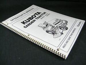 Kubota G2160 G2460G Garden Tractor Lawn Mower Operator Maintenance Manual Book