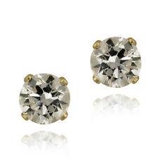 14K Yellow Gold 1.5ct Cubic Zirconia Stud Earrings