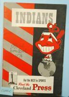 1947 Cleveland Indians Baseball Program v Detroit Tigers Unscored CLV49C